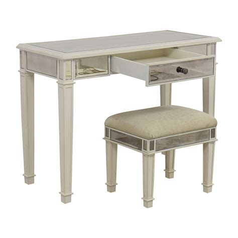 vanity table and stool 74 off pier 1 imports pier 1 imports antique white