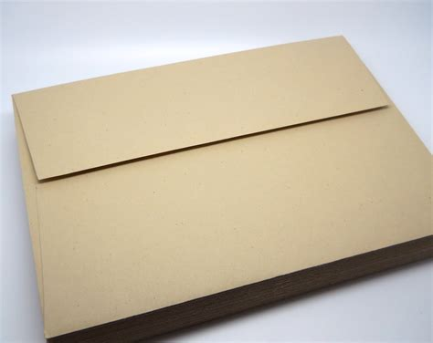 a 7 envelope smooth kraft paper envelopes a7 5x7 qty 25 wedding