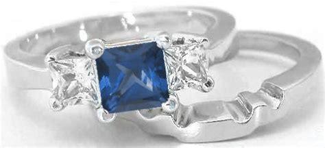 stone princess cut sapphire engagement ring