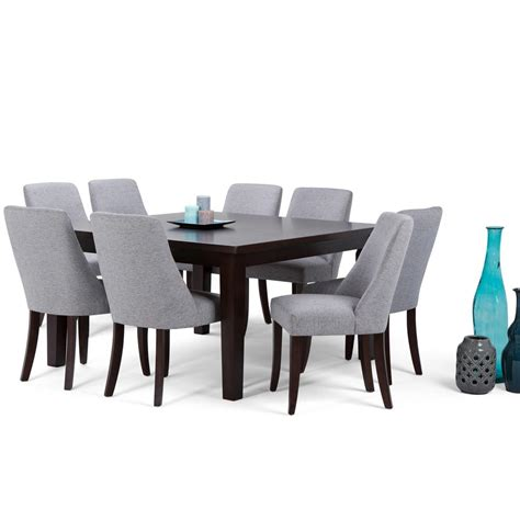 home depot dining room ls simpli home walden 9 piece java brown dining set axcds9wa