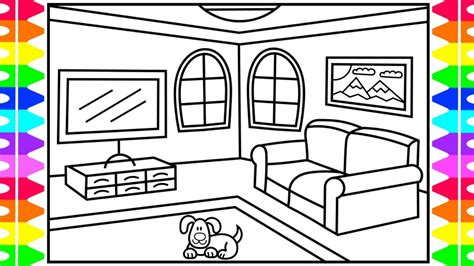 draw  living room  kids living room drawing