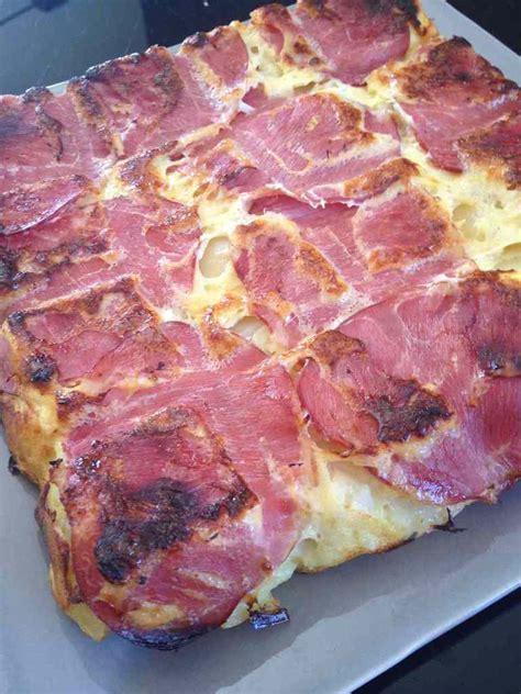 tablette recette de cuisine quiche sans pâte bacon pomme de terre et oignons
