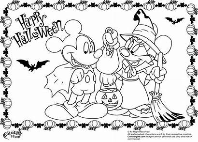 Mickey Mouse Coloring Minnie Pages Halloween Disney