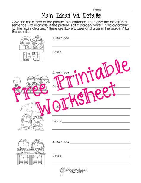 idea vs details worksheets squarehead teachers