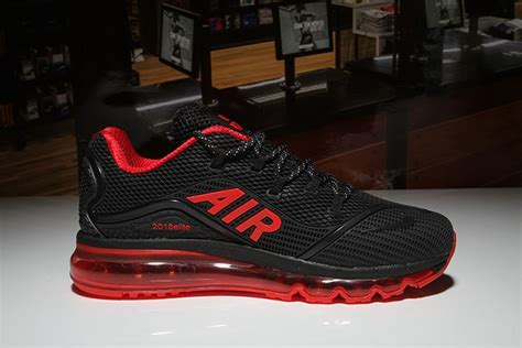 Men's Nike Air Max 2018 Elite Shoes Black Red For Sale Online
