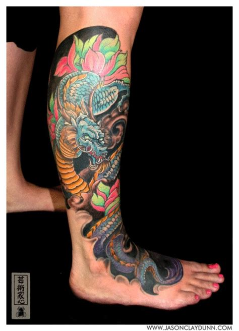 dragon tattoos ideas  leg