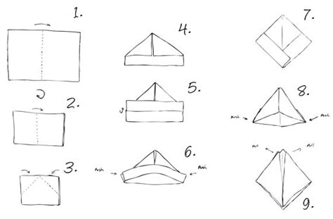 How To Fold A Paper Boat Easy by How Tuesday Paper Beeswax Boats Etsy Journal