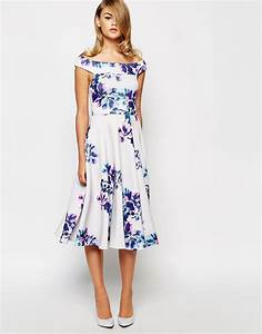 wedding guest fashion 20 fab florals buys weddingsonline With off the shoulder dress for wedding guest