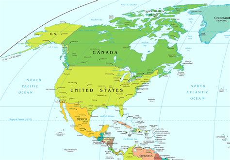 Map Of Central America To The United States Of America