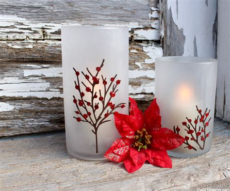 etched candle holders perfect for christmas