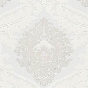 Papier Peint Blanc Relief : papier peint intiss blanc aux motifs baroques blancs et paillet s en relief tr s tendance le ~ Melissatoandfro.com Idées de Décoration