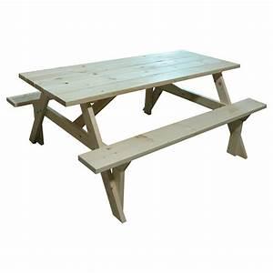 Table Picnic Bois Pas Cher : table de picnic en bois a vendre table de lit ~ Melissatoandfro.com Idées de Décoration