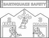 Earthquake Safety Shake Hats sketch template