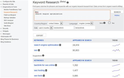 Keyword Search Engine - why seos should not ignore webmaster tools