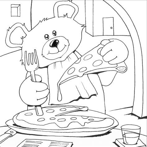 pizza coloring pages coloring home