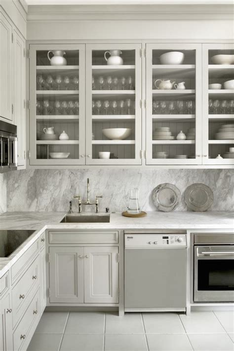 Ideas For Glass Kitchen Cabinets by Glass Front Display Cabinets Design Ideas