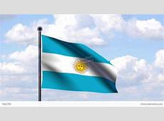 Animated Flag Of Argentina Argentinien Stock Animation