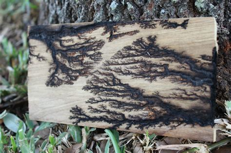 burn fractal patterns  plywood diy art