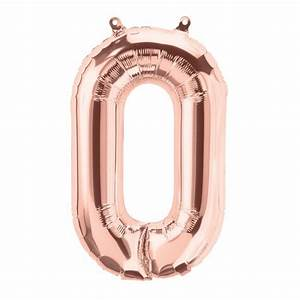 rose gold letter o air fill balloon 16quot foil balloons With large letter balloons rose gold