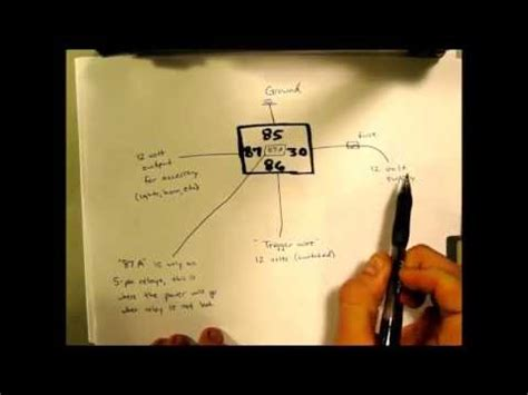Basic Automotive Relay Operation Simple Wiring Youtube