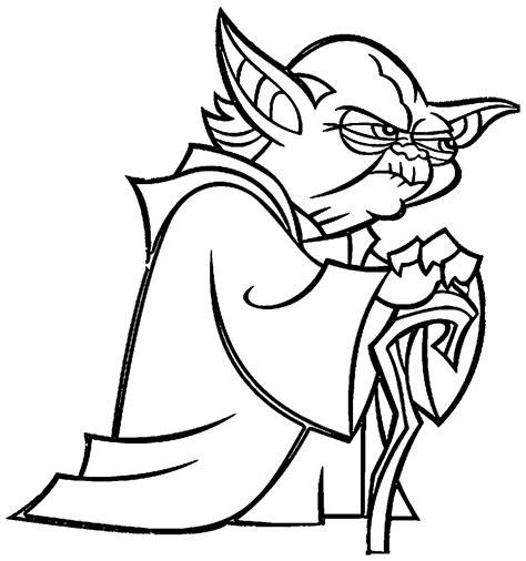 print   angry yoda coloring page