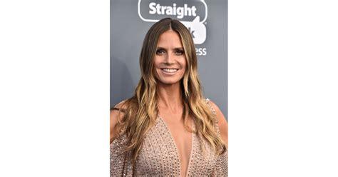 Heidi Klum Hair Makeup Critics Choice Awards