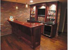 Angled view small custom bar Bars and Wet Bars