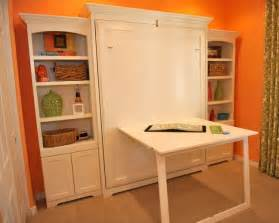 Murphy Bed Desk Combo Ikea by Murphy Wall Bed With Custom Side Cabinets Traditional