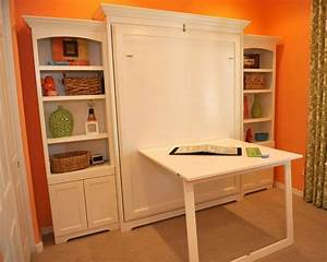 Murphy Wall Bed With Custom Side Cabinets - Traditional