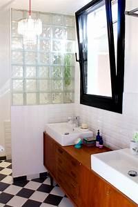Meuble Salle De Bain Retro : une salle de bains un brin r tro visite priv e ~ Teatrodelosmanantiales.com Idées de Décoration