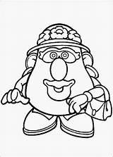 Potato Head Mr Cartof Coloring Colorat Coloriage Fun Potatoe Cap Clipart Template Toy Story Papa Dibujos Colorear Monsieur Patate Kleurplaten sketch template