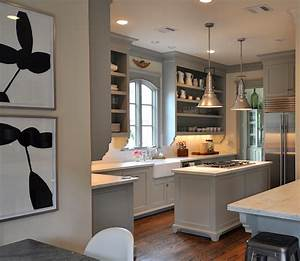 gray green kitchen cabinets transitional kitchen With best brand of paint for kitchen cabinets with teenager wall art