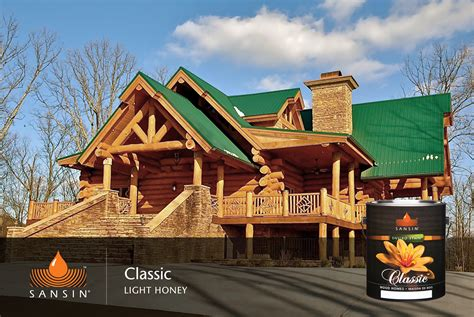 Log Homes Exterior Finishes | The Sansin Corporation