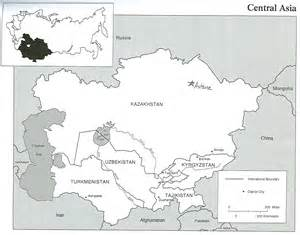 Russia and Central Asia Blank Map Quiz