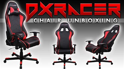 dxracer computer gaming chair unboxing