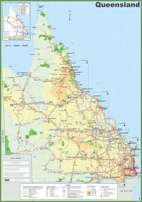 queensland tourist map
