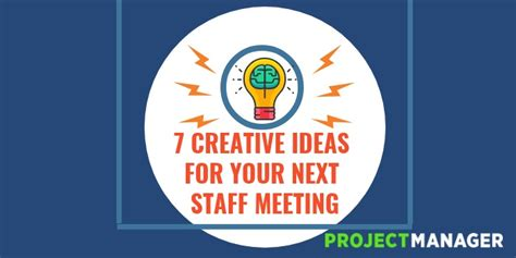 staff meeting ideas  creative tactics   team