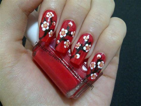 Nail Art Overdose Chinese New Year Design Cherry Blossom