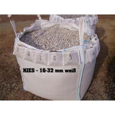 kies big bag kies 16 32 mm weiss big bag ca 0 5m 179 nr 215