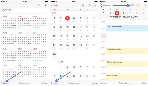 iphone calendar view how to display your calendar events as list view in ios