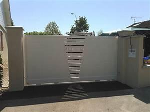 Portail Alu Coulissant 4m : portail alu coulissant 4m blanc 20170925053938 ~ Dailycaller-alerts.com Idées de Décoration