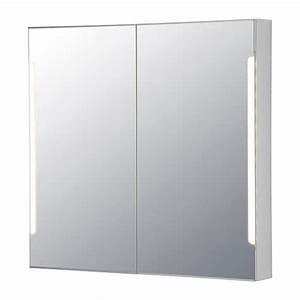 Alibert Spiegelschrank Ikea : storjorm mirror cabinet w 2 doors light ikea ~ Markanthonyermac.com Haus und Dekorationen