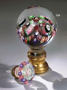 Boule De Rampe D Escalier : boule de rampe d 39 escalier en cristal de clichy du milieu du xixeme siecle a monture en cuivre ~ Melissatoandfro.com Idées de Décoration