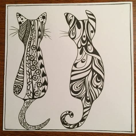 The Gallery For > Zentangle Cat
