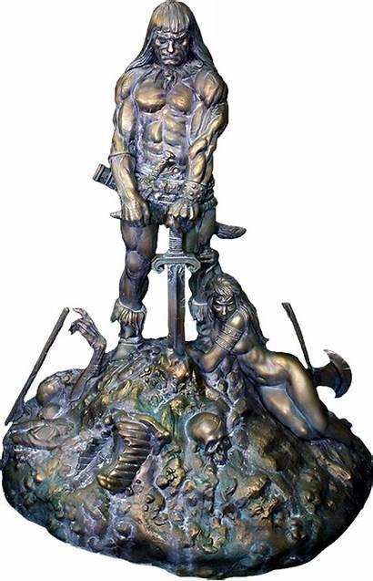Conan Barbarian Bronze Statue Sacred Sideshow Frazetta