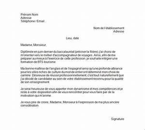 Exemple Lettre De Motivation Bts : exemple de lettre de motivation bts tourisme exemples de cv ~ Medecine-chirurgie-esthetiques.com Avis de Voitures
