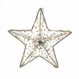 Led Stern Weihnachten : led weihnachten stern 30 cm 20 warmweisse led silberne perlen ~ Frokenaadalensverden.com Haus und Dekorationen