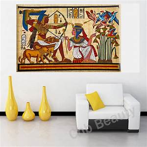 pharaoh egyptian decor canvas painting wall pictures for With egyptian wall art
