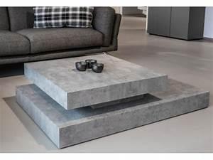 Table Basse Effet Beton : table effet beton awesome table basse effet beton le blog les tendances de la paris design week ~ Teatrodelosmanantiales.com Idées de Décoration
