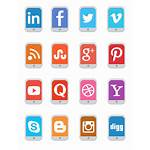 Social Icon Mobile Flat Icons Sets Checked